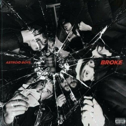 ASTROID BOYS Broke Vinyl Record LP Sony Music 2017 Red Vinyl