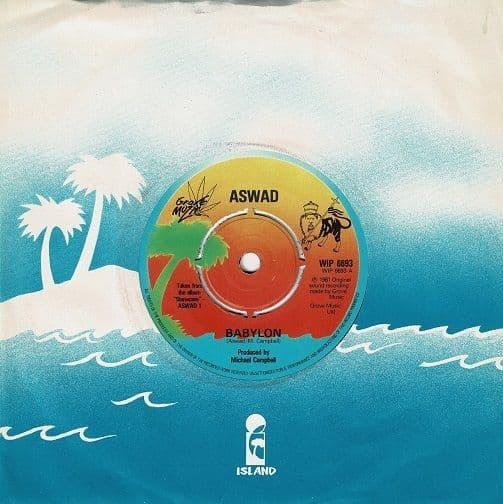 ASWAD Babylon Vinyl Record 7 Inch Island 1981