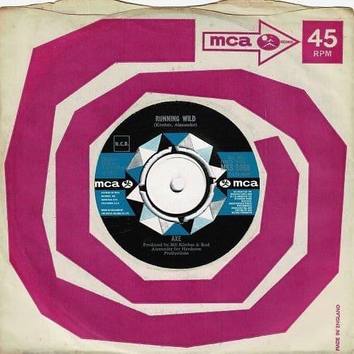 AXE Running Wild Vinyl Record 7 Inch MCA 1972