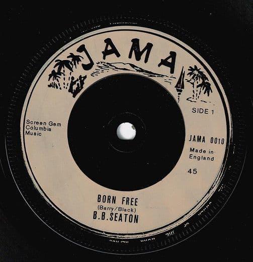 B.B. SEATON Born Free Vinyl Record 7 Inch Jama 1975