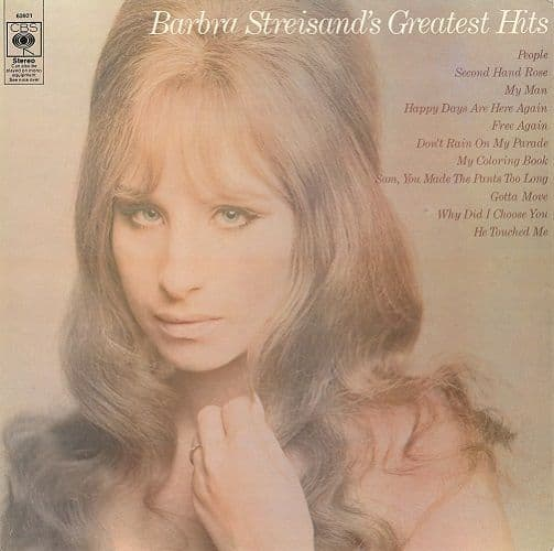 BARBRA STREISAND Greatest Hits Vinyl Record LP CBS 1970