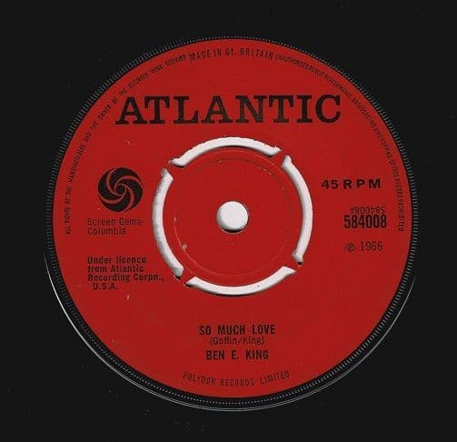 BEN E. KING So Much Love Vinyl Record 7 Inch Atlantic 1966