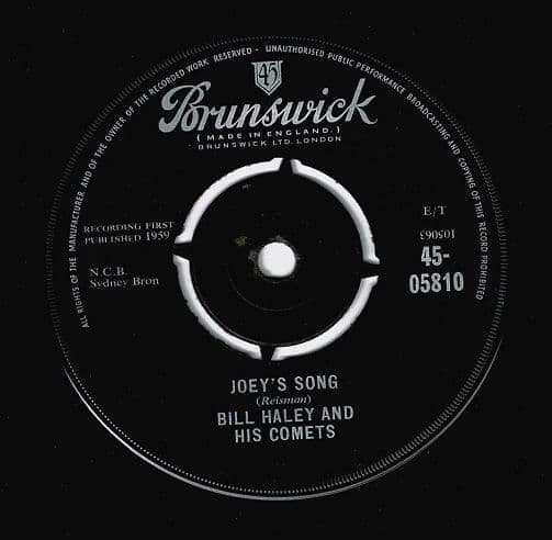 BILL HALEY AND HIS COMETS Joey's Song Vinyl Record 7 Inch Brunswick 1959
