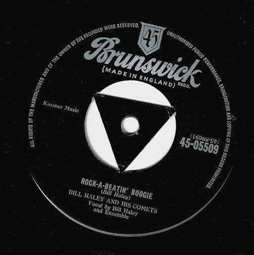 BILL HALEY AND HIS COMETS Rock-A-Beatin' Boogie Vinyl Record 7 Inch Brunswick 1955