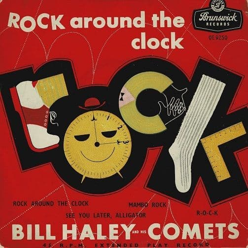 BILL HALEY AND HIS COMETS Rock Around The Clock EP Vinyl Record 7 Inch Brunswick 1957