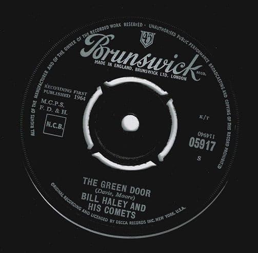 BILL HALEY AND HIS COMETS The Green Door Vinyl Record 7 Inch Brunswick 1964
