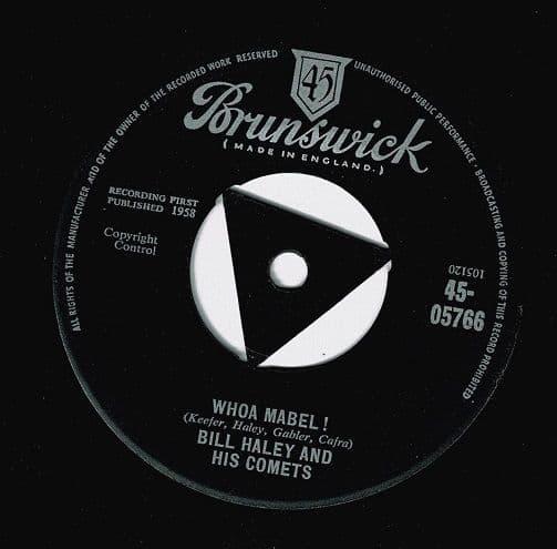 BILL HALEY AND HIS COMETS Whoa Mabel Vinyl Record 7 Inch Brunswick 1958.