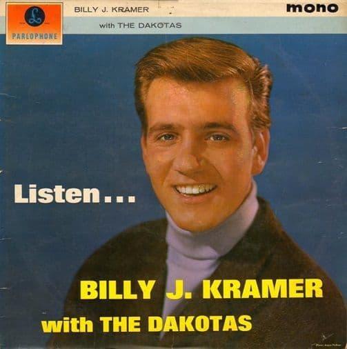 BILLY J. KRAMER WITH THE DAKOTAS Listen Vinyl Record LP Parlophone 1963