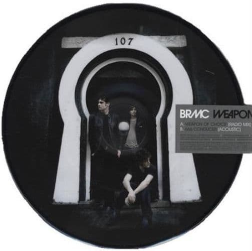 BLACK REBEL MOTORCYCLE CLUB Weapon Of Choice Vinyl Record 7 Inch Island 2007 Picture Disc