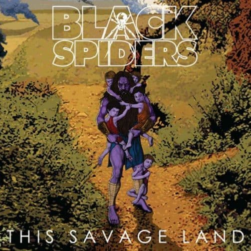 BLACK SPIDERS This Savage Land Vinyl Record LP Cooking Vinyl 2013 Purple Vinyl
