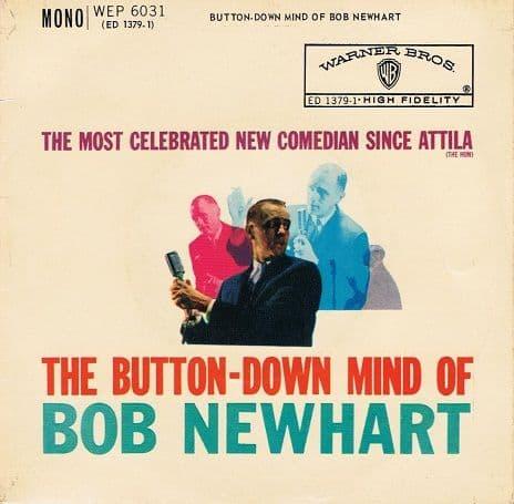 "BOB NEWHART The Button-Down Mind of Bob Newhart 7"" Single Vinyl Record 45rpm Warner Bros. 1960"