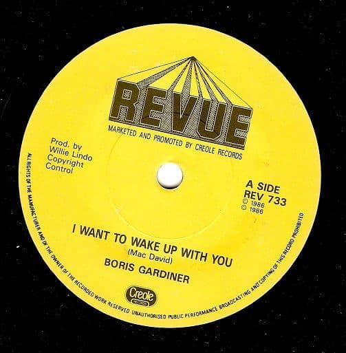 BORIS GARDINER I Want To Wake Up With You Vinyl Record 7 Inch Revue 1986