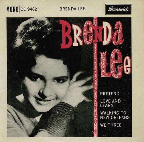 BRENDA LEE Pretend EP Vinyl Record 7 Inch Brunswick 1961