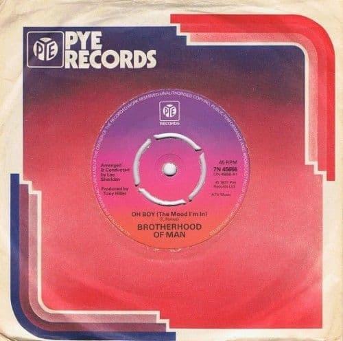 BROTHERHOOD OF MAN Oh Boy Vinyl Record 7 Inch Pye 1977