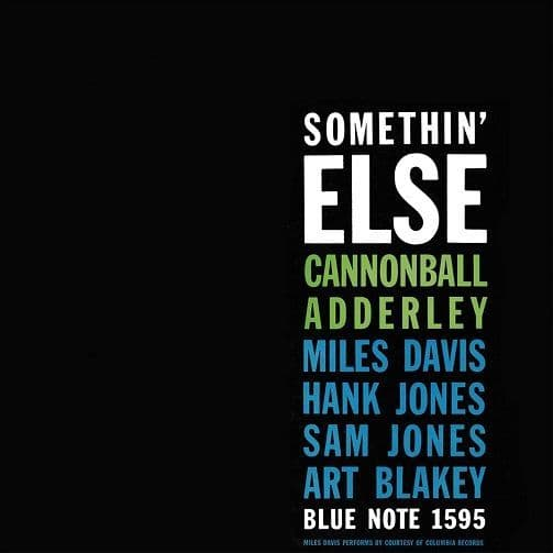 CANNONBALL ADDERLEY Somethin' Else Vinyl Record LP Blue Note 2016