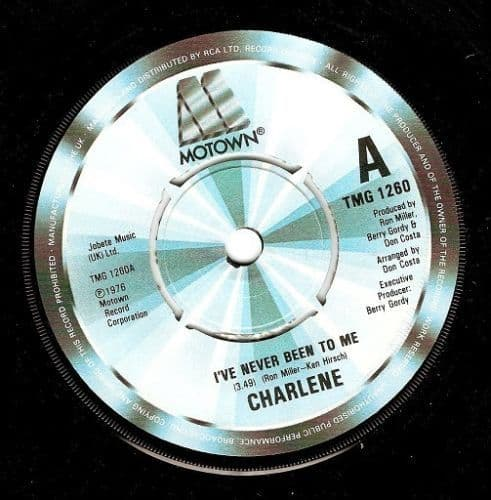CHARLENE I've Never Been To Me Vinyl Record 7 Inch Motown 1982