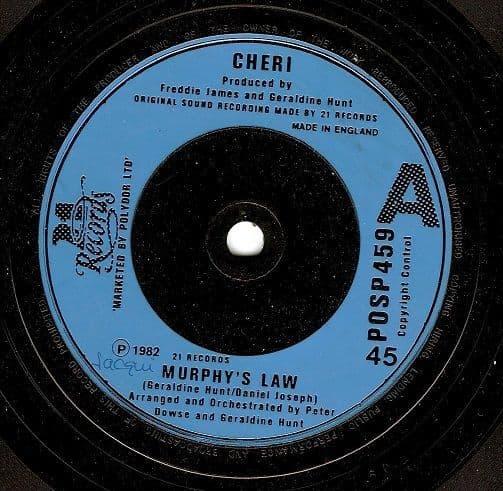 CHERI Murphy's Law Vinyl Record 7 Inch 21 1982