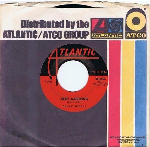 CHUCK WILLIS Keep A-Driving Vinyl Record 7 Inch US Atlantic 1958
