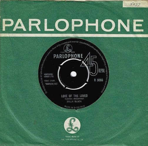 CILLA BLACK Love Of The Loved Vinyl Record 7 Inch Parlophone 1963