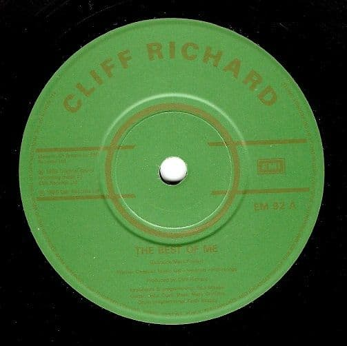 CLIFF RICHARD The Best Of Me Vinyl Record 7 Inch EMI 1989