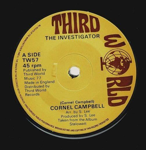 CORNELL CAMPBELL The Investigator Vinyl Record 7 Inch Third World 1977