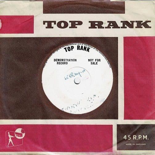 DANNY AND THE JUNIORS Twistin' U.S.A. Vinyl Record 7 Inch Top Rank 1960 Demo