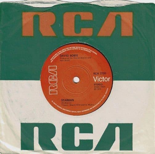 DAVID BOWIE Starman Vinyl Record 7 Inch RCA Victor 1972