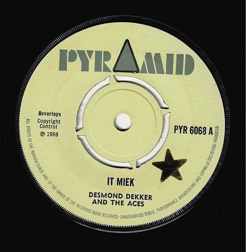 DESMOND DEKKER It Miek Vinyl Record 7 Inch Pyramid 1969