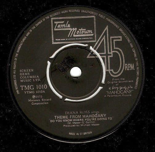 DIANA ROSS Theme From Mahogany Vinyl Record 7 Inch Tamla Motown 1975