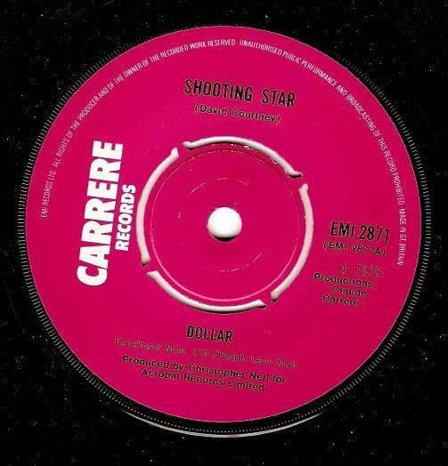 DOLLAR Shooting Star Vinyl Record 7 Inch Carrere 1978