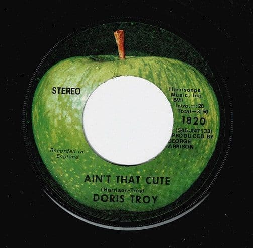 DORIS TROY Ain't That Cute Vinyl Record 7 Inch US Apple 1970
