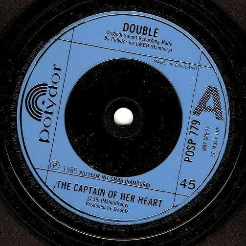 DOUBLE The Captain Of Her Heart Vinyl Record 7 Inch Polydor 1985