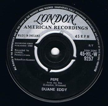 DUANE EDDY Pepe Vinyl Record 7 Inch London 1960