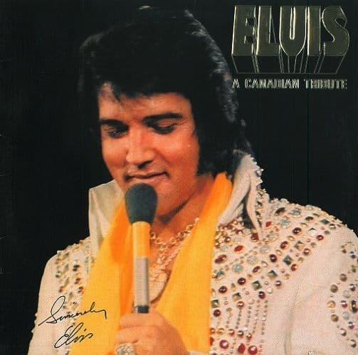 ELVIS PRESLEY A Canadian Tribute Vinyl Record LP Canadian RCA 1978 Gold Vinyl