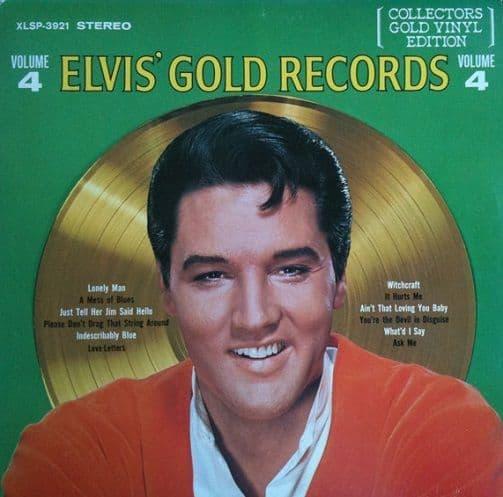 ELVIS PRESLEY Elvis' Gold Records Volume 4 Vinyl Record LP Canadian RCA 1978 Gold Vinyl