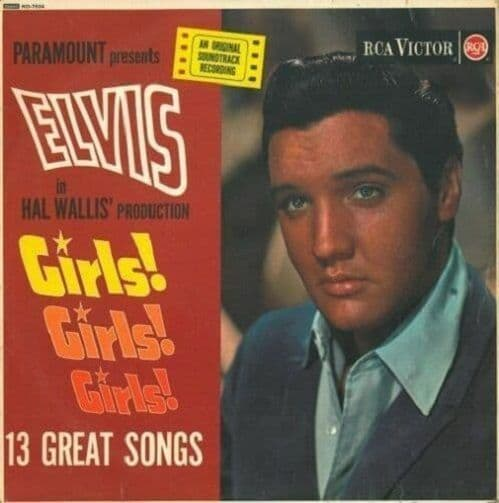 ELVIS PRESLEY Girls Girls Girls Vinyl Record LP RCA Victor 1963