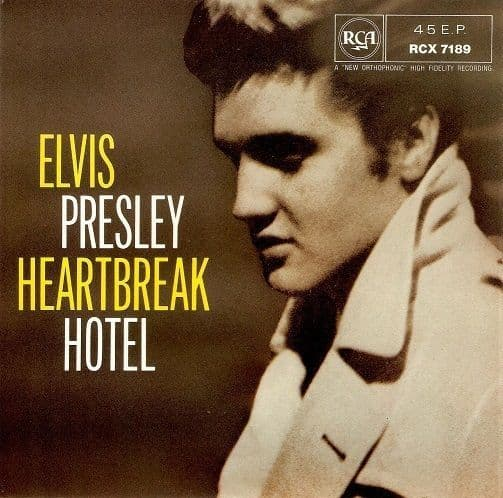 ELVIS PRESLEY Heartbreak Hotel EP Vinyl Record 7 Inch RCA
