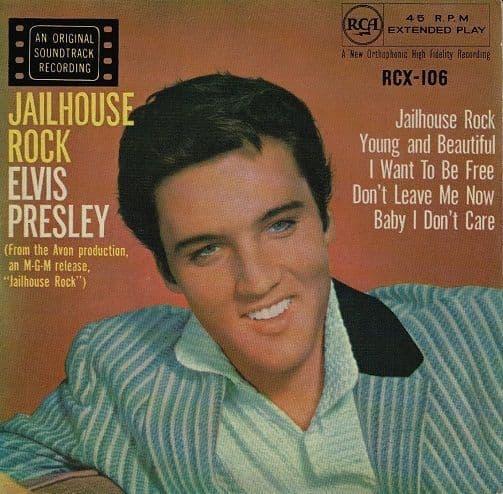 ELVIS PRESLEY Jailhouse Rock EP Vinyl Record 7 Inch RCA 1959