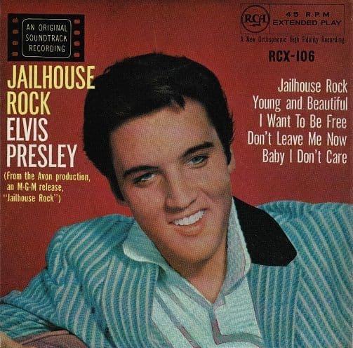 ELVIS PRESLEY Jailhouse Rock EP Vinyl Record 7 Inch RCA Victor 1969