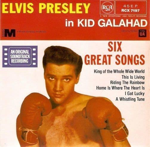 ELVIS PRESLEY Kid Galahad EP Vinyl Record 7 Inch RCA
