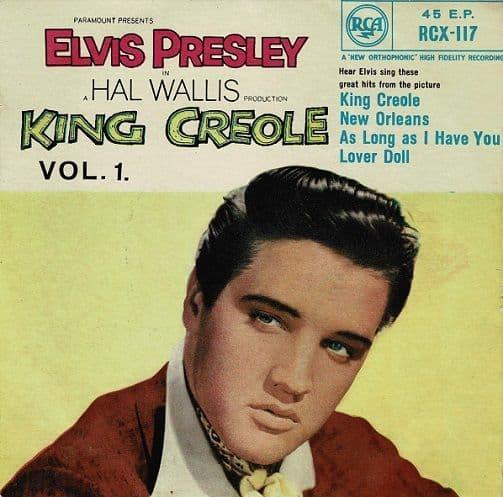 ELVIS PRESLEY King Creole Vol. 1 EP Vinyl Record 7 Inch RCA 1958