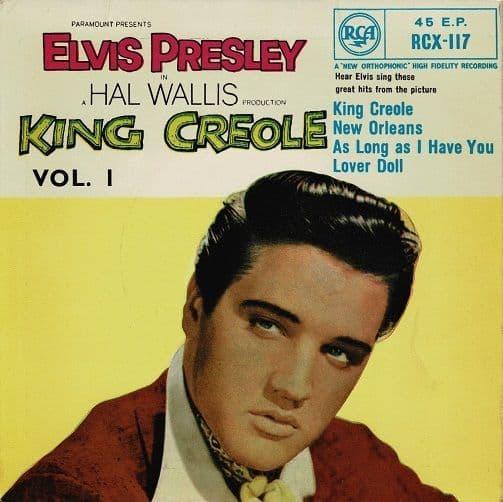 ELVIS PRESLEY King Creole Vol. 1 EP Vinyl Record 7 Inch RCA Victor 1965