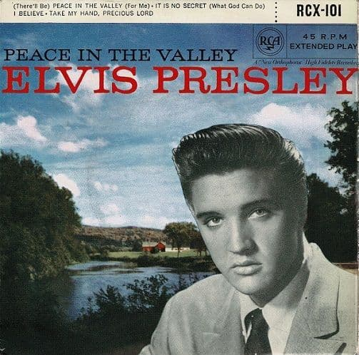 ELVIS PRESLEY Peace In The Valley EP Vinyl Record 7 Inch RCA 1958
