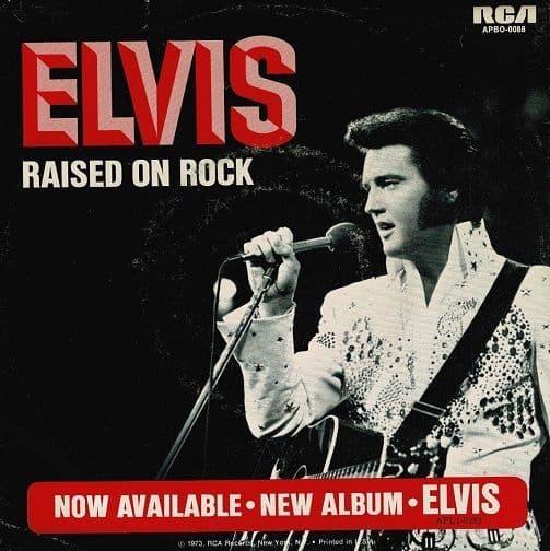 ELVIS PRESLEY Raised On Rock Vinyl Record 7 Inch US RCA Victor 1973