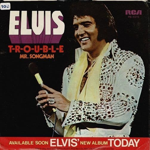 ELVIS PRESLEY T-R-O-U-B-L-E Vinyl Record 7 Inch US RCA Victor 1975