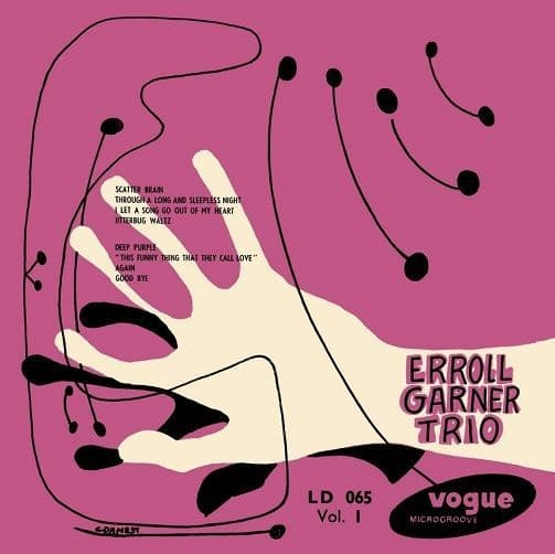 ERROLL GARNER TRIO Erroll Garner Trio Vol. 1 Vinyl Record LP Disques Vogue 2017 Pink Vinyl