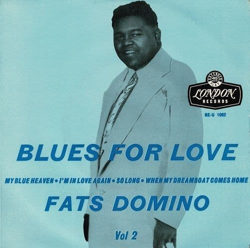 FATS DOMINO Blues For Love Vol. 2 EP Vinyl Record 7 Inch London 1956
