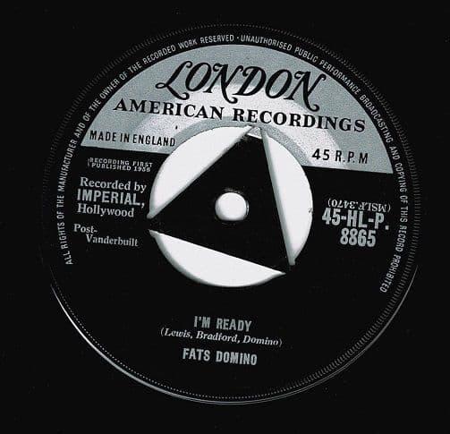 FATS DOMINO I'm Ready Vinyl Record 7 Inch London 1959