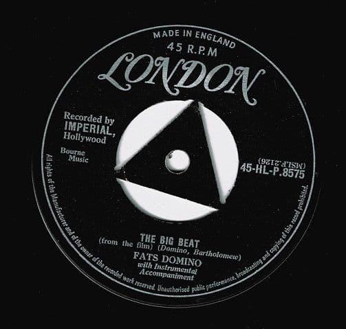 FATS DOMINO The Big Beat Vinyl Record 7 Inch London 1957
