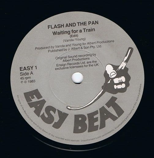 FLASH AND THE PAN Waiting For A Train Vinyl Record 7 Inch Easy Beat 1983